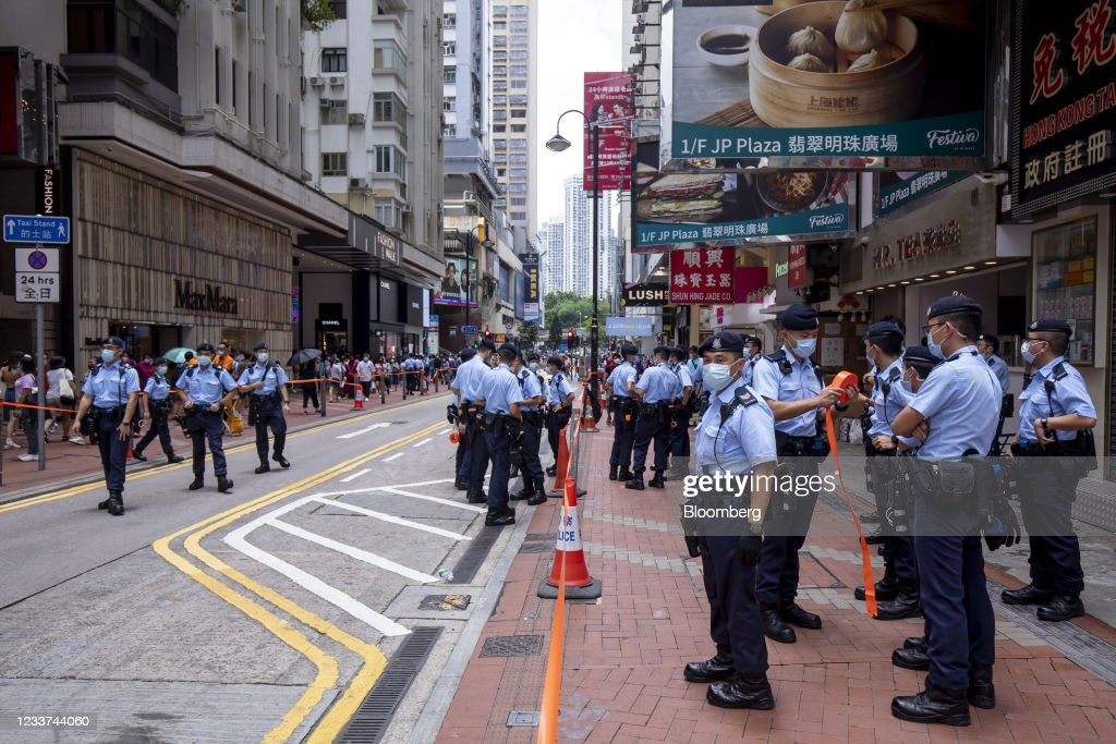 Hong Kong Marks 24th Anniversary of City's Return To Chinese Rule : News Photo