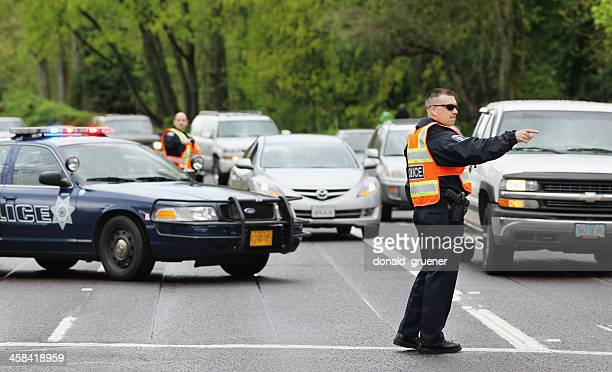 Police Officers Directing Traffic