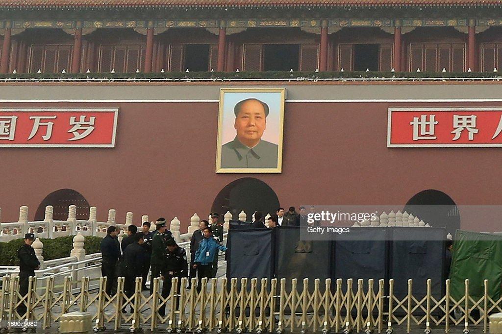 Car Crash Leaves Three Dead In Tiananmen Square : News Photo