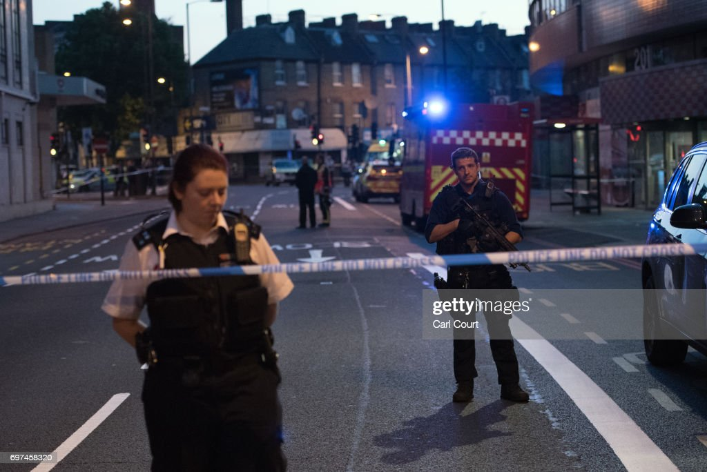Casualties Reported After Van Strikes worshippers Leaving Ramadan Prayers in London : News Photo