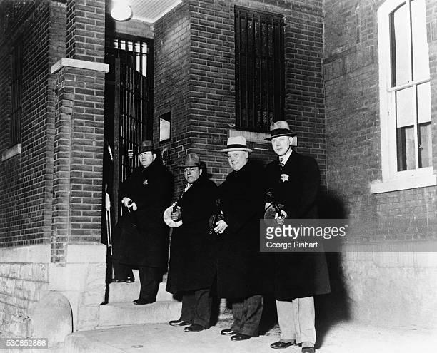Police officers guarding John Dillinger in Jail