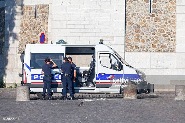 Police officers in Paris