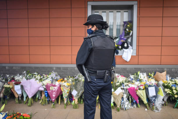GBR: Mourners Pay Tribute To Police Sergeant Shot Dead In Croydon Custody Suite