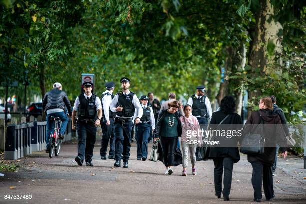 Police officers near to Parsons Green Several people have been injured after an explosion on a tube train in southwest London The Police are treating...