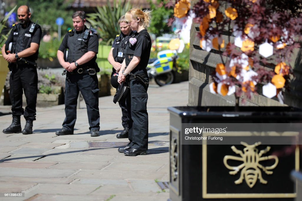 Duke Of Cambridge Pays Tribute To The Manchester Arena Bombing Victims One Year On : News Photo