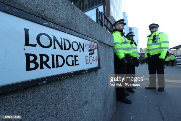 Police officers on London Bridge in central London following the terror attack on Friday A vigil will be held on Monday to pay tribute to the victims...