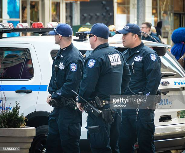 Police officers on patrol in New York City