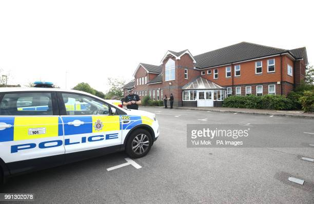 Police officers outside Amesbury Baptist Centre in Amesbury Wiltshire where a major incident has been declared after it was suspected that two people...