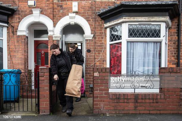 Police officers remove items from a property on Raglan Street in Hull in connection with the disappearance of 21yearold student Libby Squire who has...