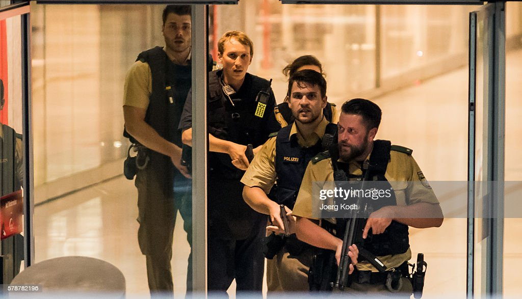 Deaths Reported In Shooting at Munich Shopping Centre : News Photo