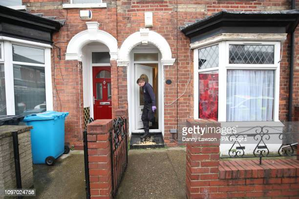 Police officers search a property on Raglan Street in Hull in connection with the disappearance of 21yearold student Libby Squire who has been...