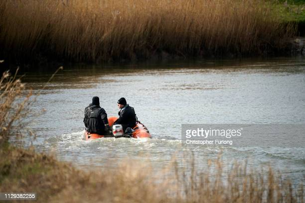 Police officers search the the River Hull next to Oak Road Park in Hull near to the home of missing 21yearold student Libby Squire on February 13...