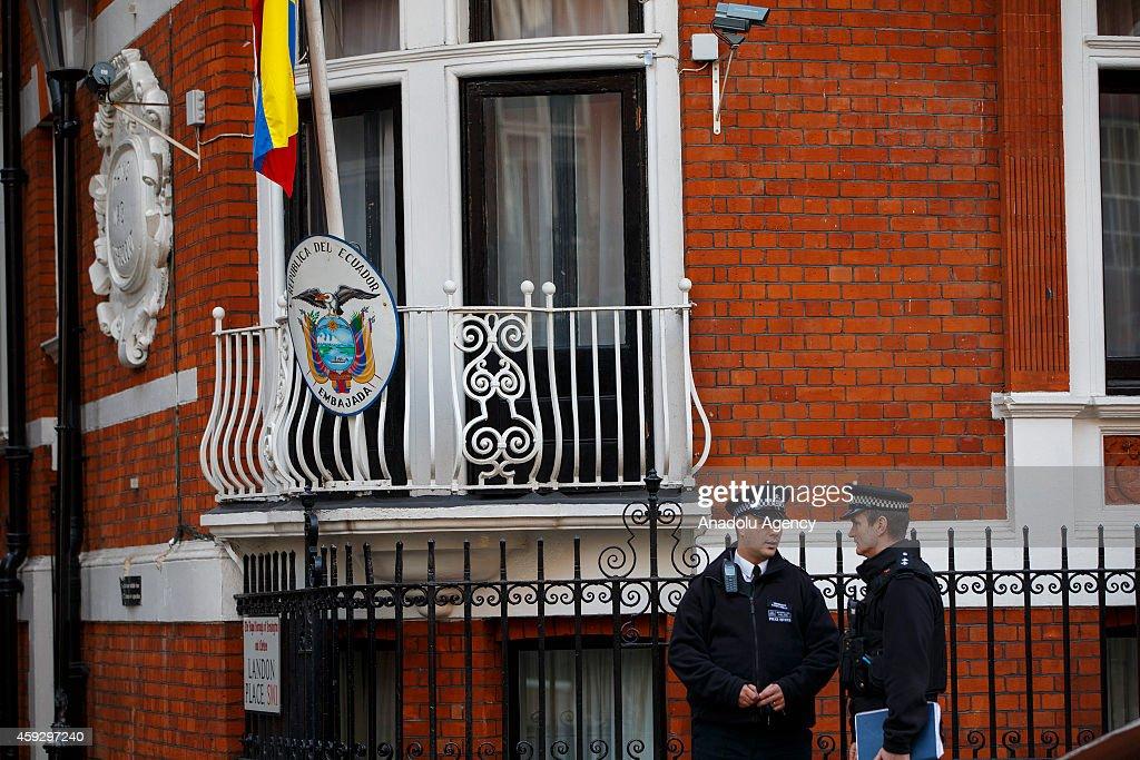 Ecuadorian embassy in London : News Photo