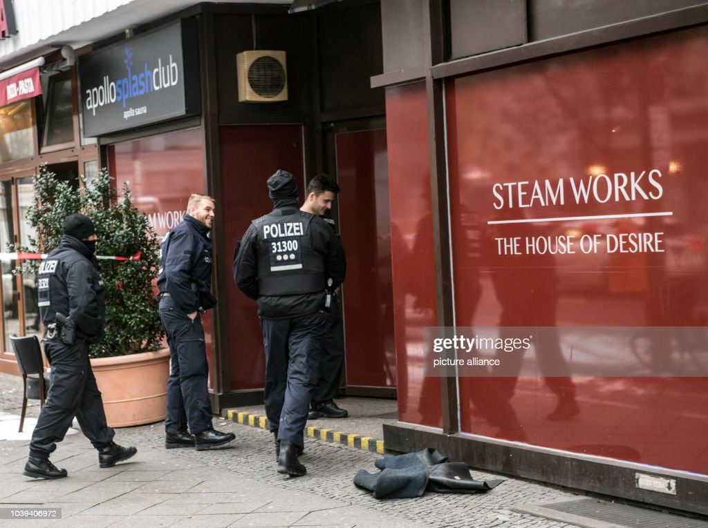 Police Officers Walk Into The Men S Saunaclub In Berlin Germany