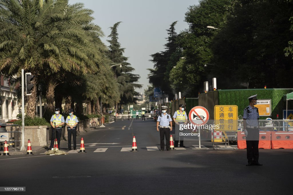 U.S. Vacates Consulate General in Chengdu : ニュース写真