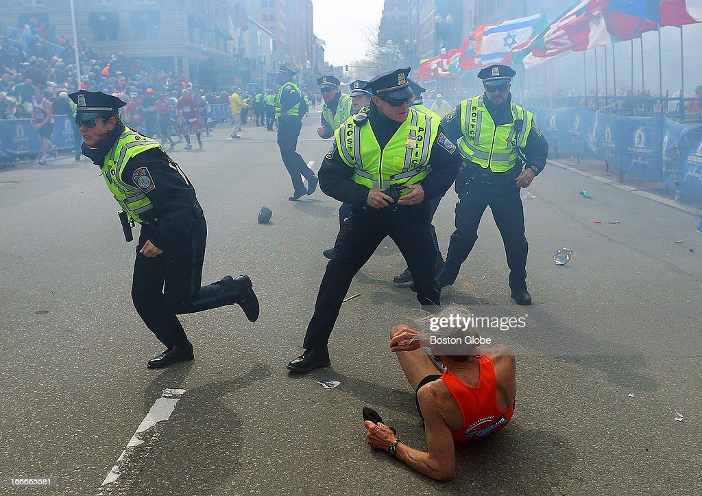Explosions At 117th Boston Marathon : News Photo