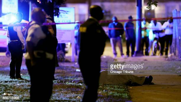 Police officials guard the scene of a fatal shooting in the 4700 block of West Jackson Boulevard Friday Sept 29 in Chicago Ill A 40yearold man was...