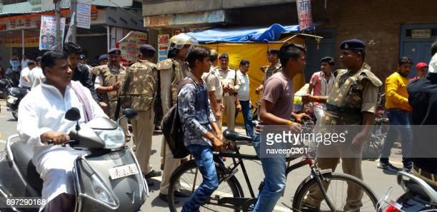 police on duty in madhya pradesh, india - madhya pradesh stock photos and pictures