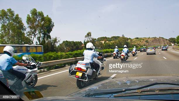 Police on the highway
