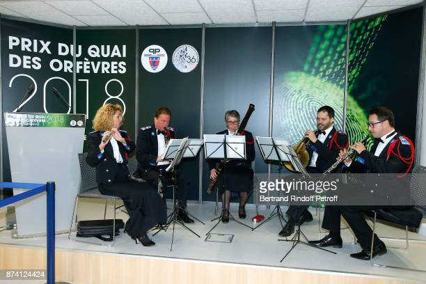 Police Orchestra performs during Sylvain Forge wins the '71eme Prix du Quai des Orfevres 2018' for his Book 'Tension Extreme' Held for the first time...