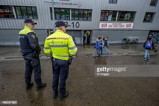 police outside of the Kyocera Stadium during the Dutch Eredivisie match between ADO Den Haag and Vitesse Arnhem at Kyocera stadium on November 22...