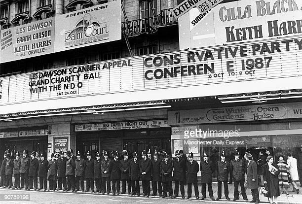 Police outside the Blackpool Winter Gardens and Opera House The second �C� of �conference� has fallen offOther attractions include Les Dawson Keith...