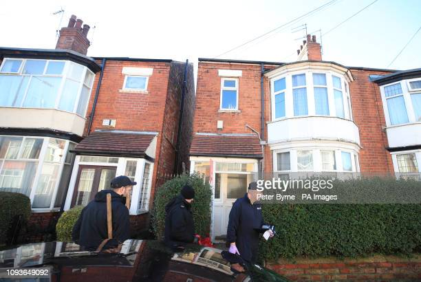 Police outside the home of 21yearold student Libby Squire in Hull who has been missing since early on Friday as her parents have made an emotional...