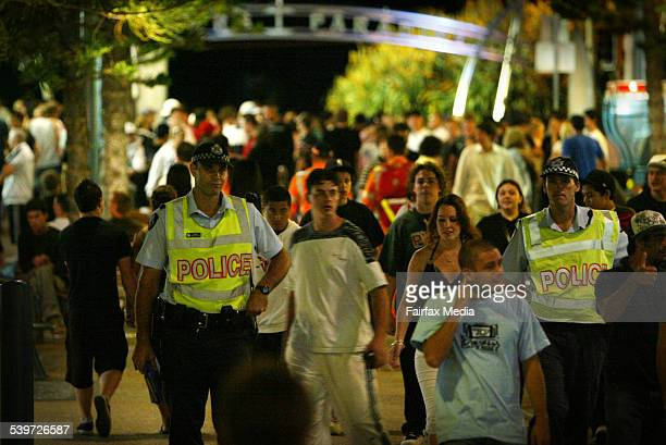 Police patrol Cavil Street on the first night of schoolies week on the Gold Coast More than 30000 schoolleavers are expected to attend 19 November...