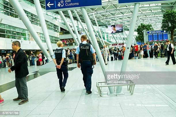 Police patrol in airport Düsseldorf