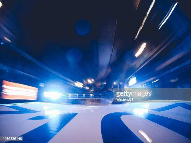 police patrol lights on car roof, madrid, spain - police vehicle lighting stock pictures, royalty-free photos & images