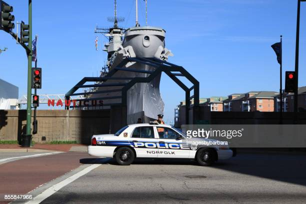 police patrol - norfolk virginia stock pictures, royalty-free photos & images