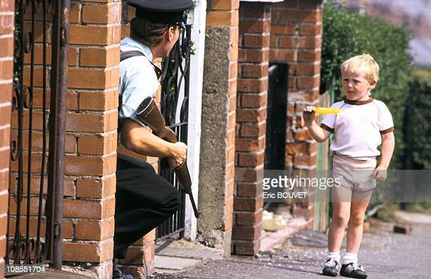 Police patrolling in Belfast United Kingdom on August 24th 1984