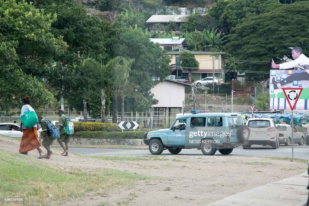 PNG-POLICE-STUDNETS-EDUCATION-UNREST-STUDENTS : News Photo