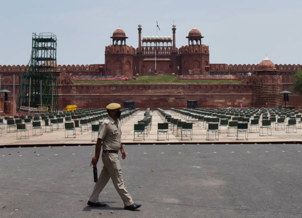 IND: Preparations Underway For Independence Day At Red Fort
