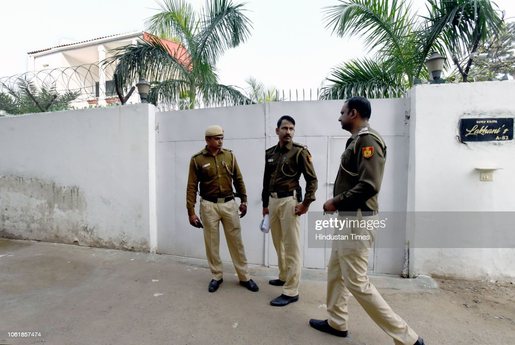 Police Personnel Seen Outside The Residence Of Fashion Designer Mala News Photo Getty Images