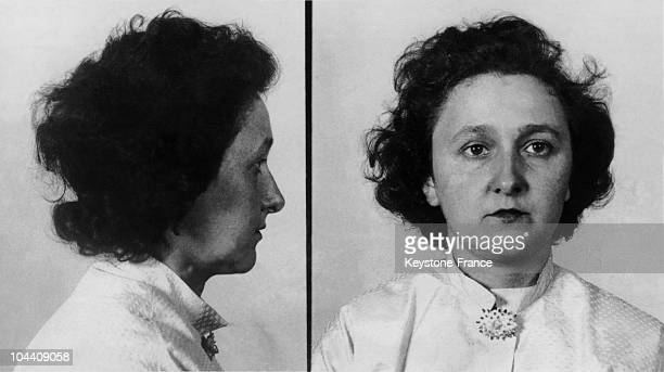 Police photos in 1950 of Ethel ROSENBERG wife of Julius ROSENBERG the American engineer accused by Ethel's own brother of having given secrets about...