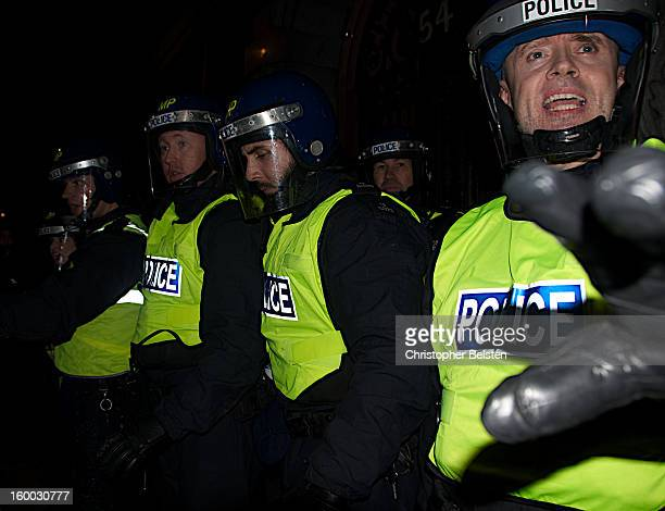 CONTENT] Police pushing back demonstrators on Whitehall London during the G20 protests November 2010