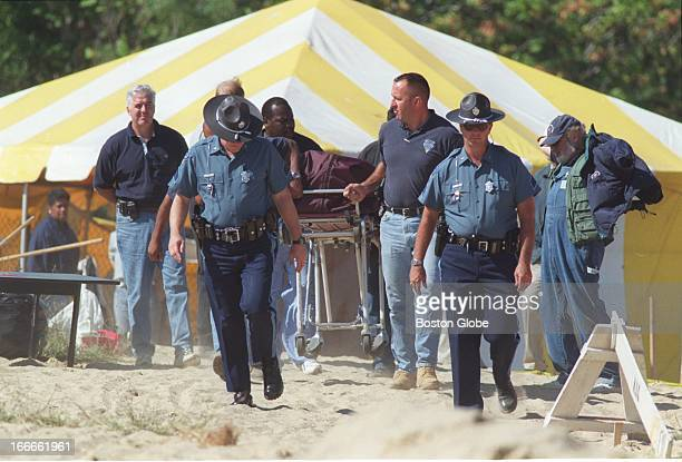 Police Remove A Male Body Fount At Tenean Beach Sept 14 2000