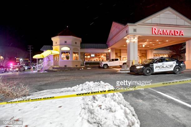Police respond to a shooting at PJ Harrigan's in State College Pa on January 24 2019