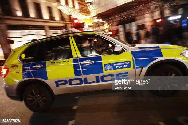Police response vehicle seen near Oxford Circus underground station on November 24 2017 in London England Police are responding to reports of an...