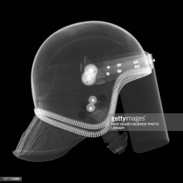 police riot helmet, x-ray - scientific imaging technique stock pictures, royalty-free photos & images