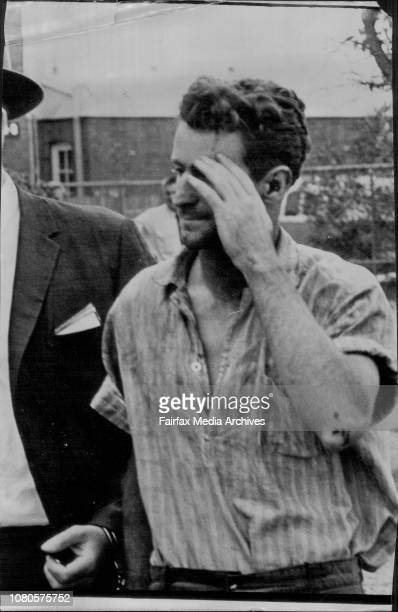 Barry Millane photographed leaving Daceyville police station following his recapture today March 16 1965