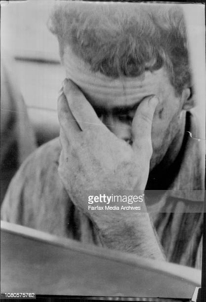 Barry Millane photographed leaving Daceyville police station following his recapture today March 18 1965