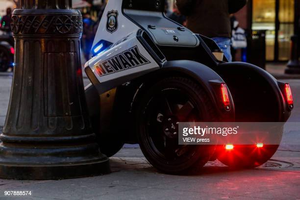 A police scooter is seen at downtown on January 18 2018 in Newark New Jersey Amazon has released a shortlist for its muchanticipated second...