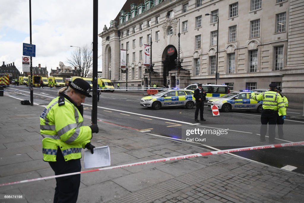 Firearms Incident Takes Place Outside Parliament : News Photo