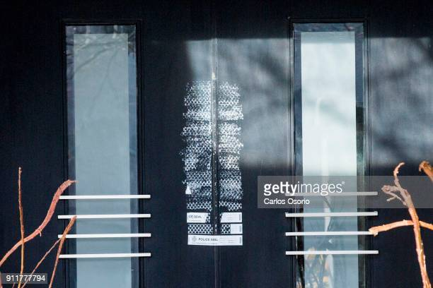 TORONTO ON JANUARY 26 Police seals on the front door of the Sherman home Friday morning Toronto police released the home back to the Sherman family...