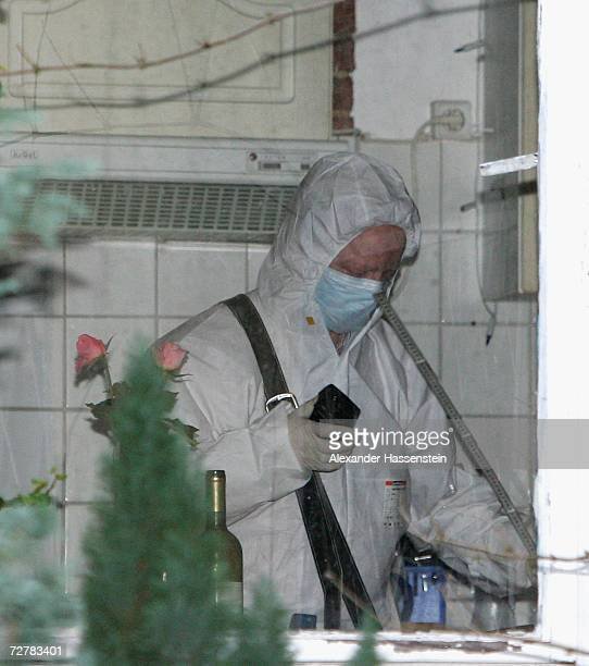 Police search an apartment in Erzbergerstrasse 4 that was rented by Russian businessman Dmitry Kovtun who is currently treated for radiation...