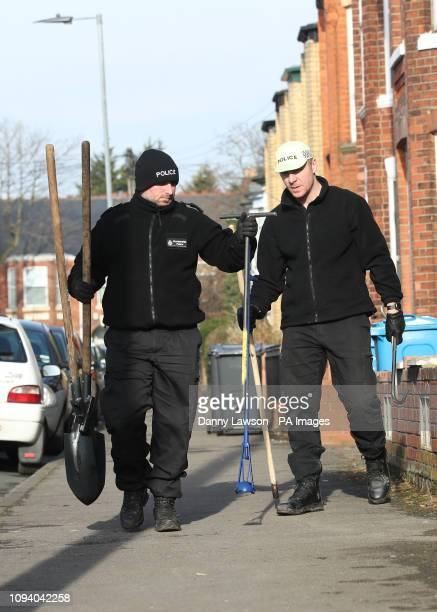 Police search drains on Heathcote Street in Hull as they investigate the disappearance of 21yearold student Libby Squire who has been missing from...