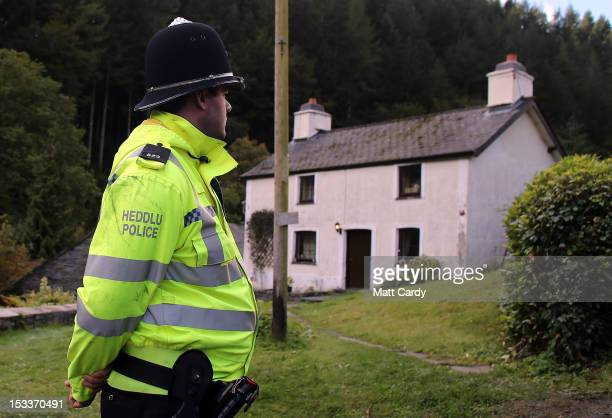 Police search Mark Bridger's house in the village of Ceinws as the hunt for missing April Jones continues on October 4 2012 near Machynlleth Wales...