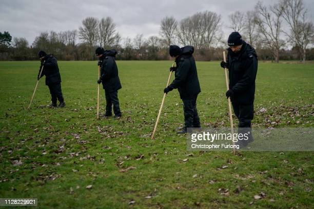 Police search Oak Road Park in Hull near to the home of missing 21yearold student Libby Squire on February 08 2019 in Hull England Libby Squire has...